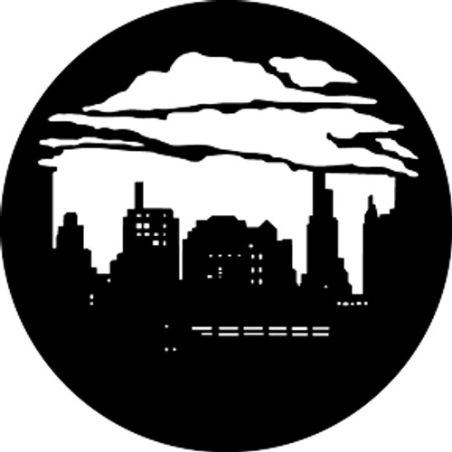 GAM Standard Steel Gobo 374 - Skyline with Clouds 2