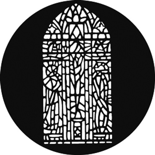 GAM Standard Steel Gobo 583 - Stained Glass Window