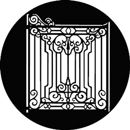 GAM Standard Steel Gobo 741 - Iron Gate