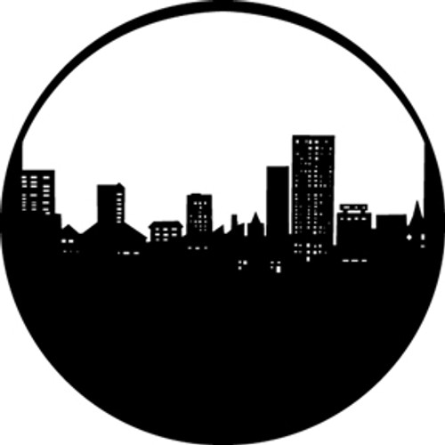 GAM Standard Steel Gobo 211 - City Skyline
