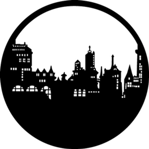 GAM Standard Steel Gobo 212 - Old City Skyline