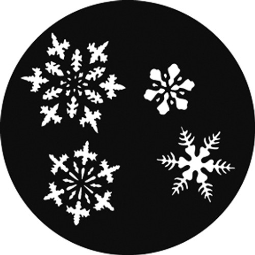 GAM Standard Steel Gobo 310 - Small Snowflakes