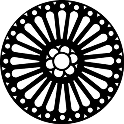 GAM Standard Steel Gobo 375 - Rose Window 1