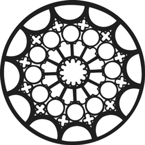 GAM Standard Steel Gobo 376 - Rose Window