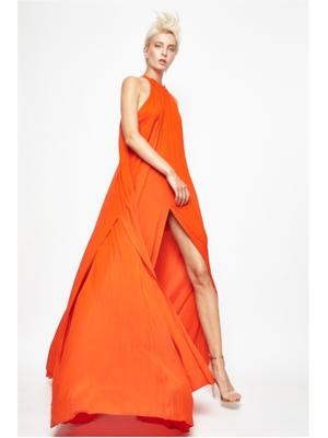 Maxivestido naranja Angel Grave Primavera-verano 2020