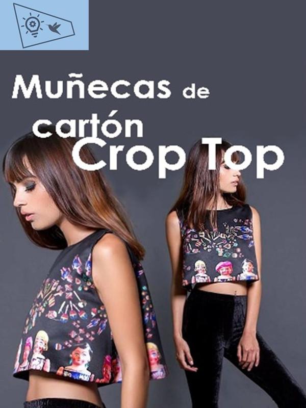 NAYIBI MÉXICO - CROP TOP DE SATÍN ESTAMPADO