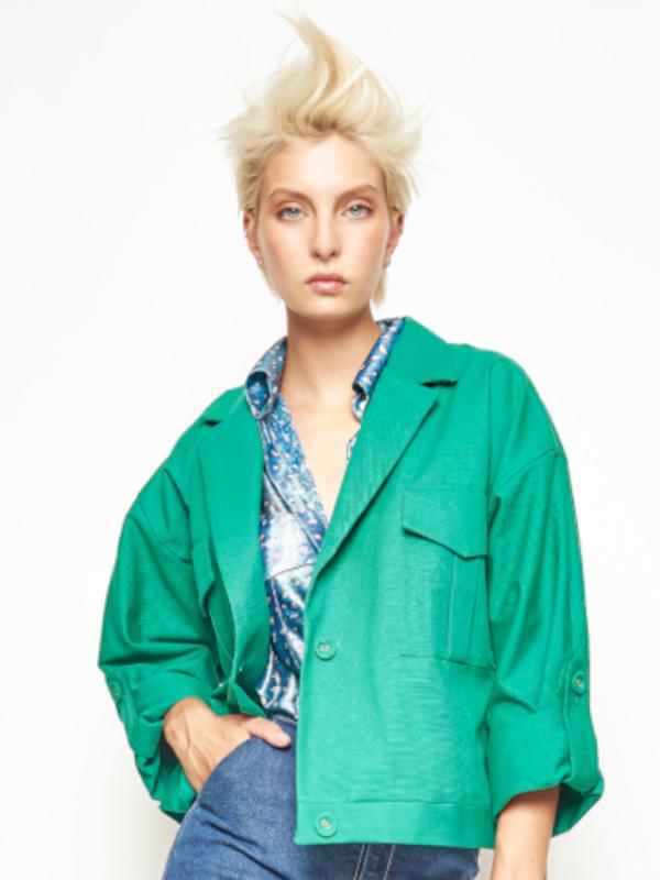 Short cotton jacket  Angel Grave  Spring-Summer 2020
