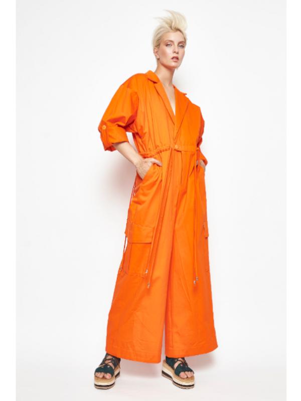 Combinaison en cotton orange Angel Grave Printemps-Été 2020