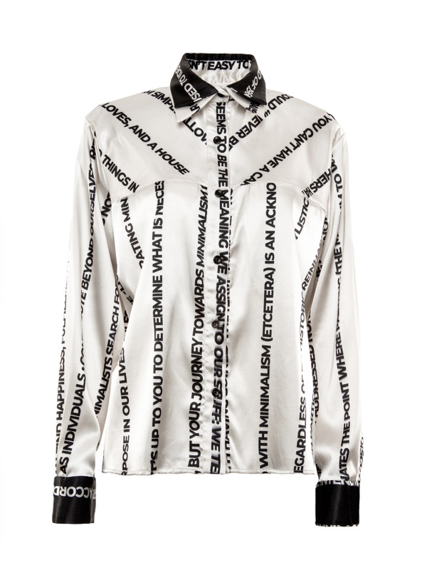 CAMISA SATIN ESTAMPADA