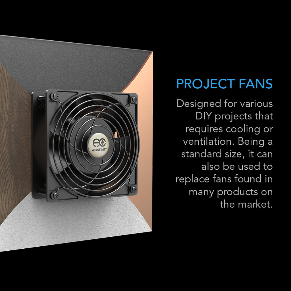 Axial Cooling Fan Computer System Ventilation Blower Cabinet Muffin Fan 120V