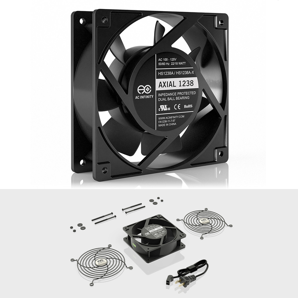 Axial 1238 Muffin 120v Ac Cooling Fan 120mm X 38mm Wiring Dual Electric Fans