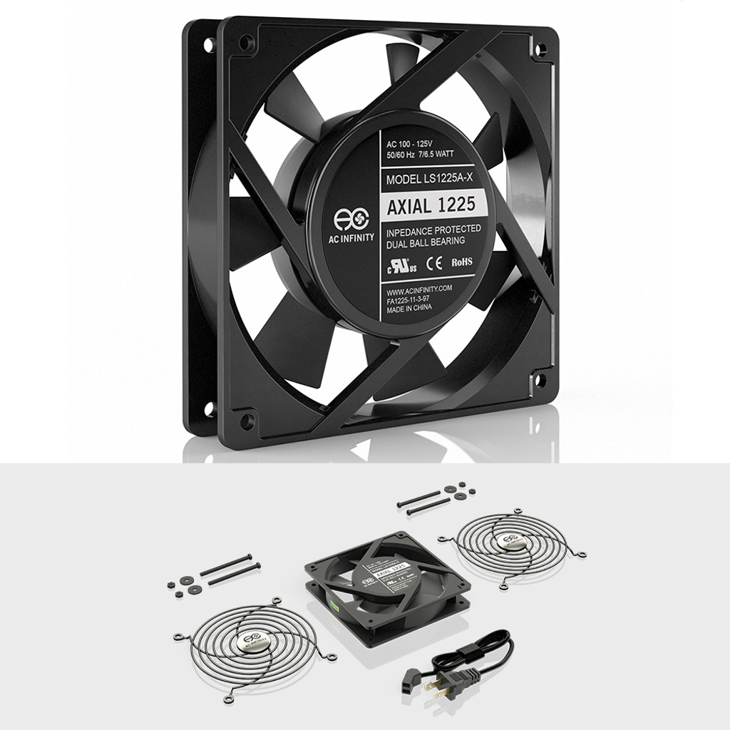 115V 120V AC 120mm x 25mm Low Speed Quiet Muffin Fan AXIAL 1225
