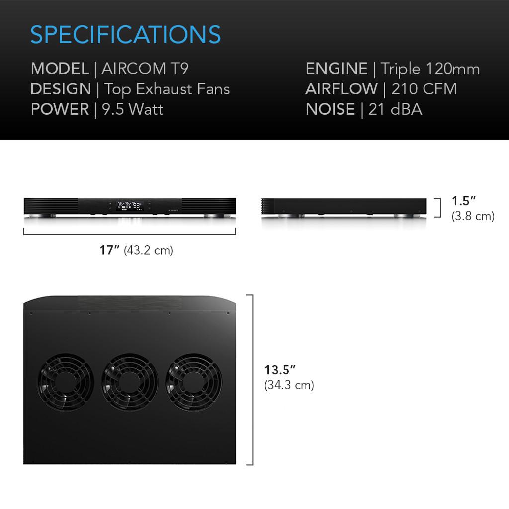 AV Receiver Amplifier Cooling Fan