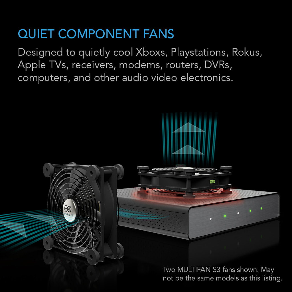 AC-Powered Dual 120mm Cooling Fan