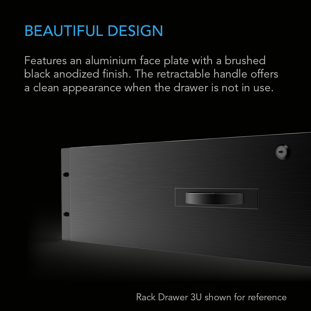Heavy-Duty Aluminium Rack Drawer 4U