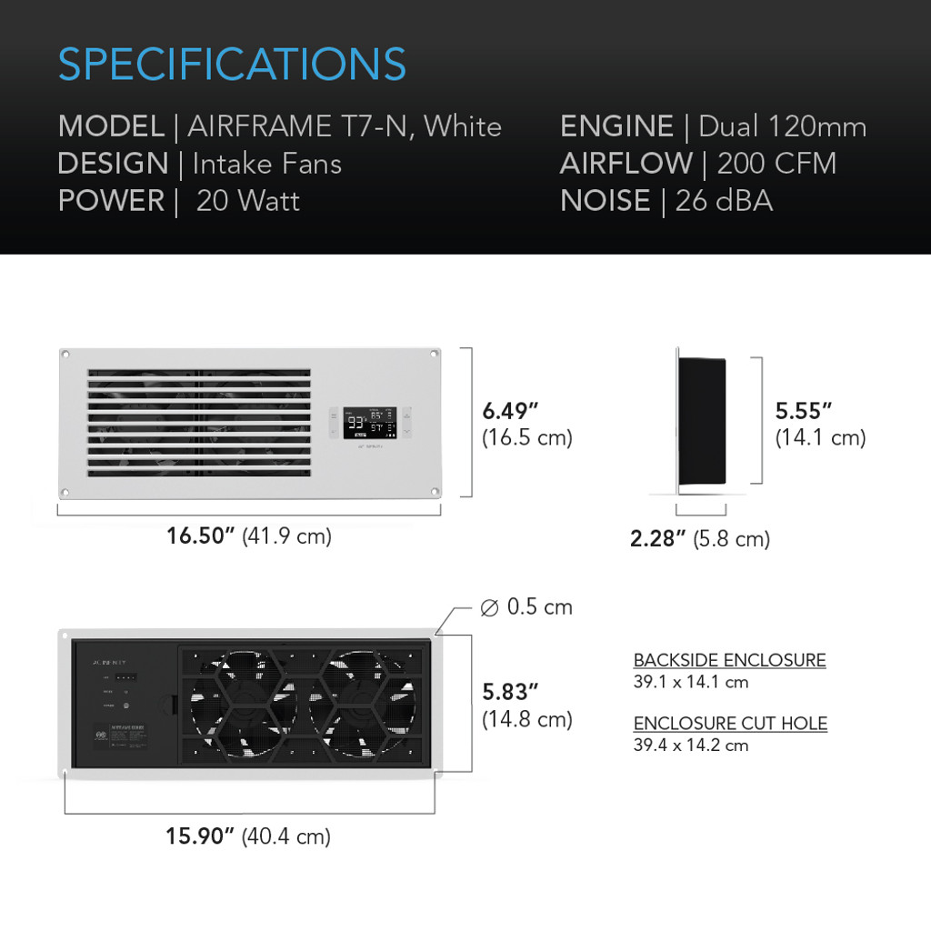 AV Equipment Room and Closet Cooling Fan