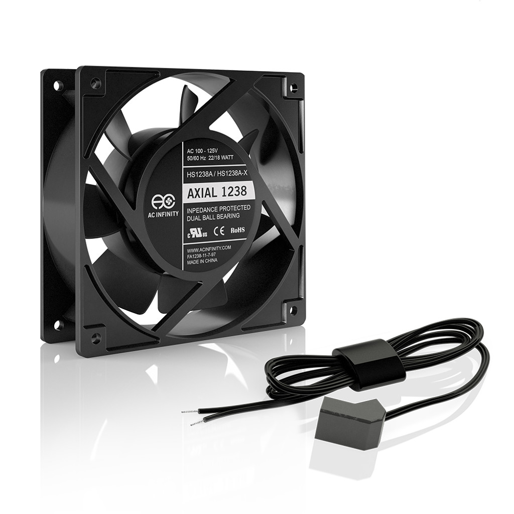 110 Ac Fan Wiring Axial 1238w 120v Muffin With Wire Leads Adapter 120mm X 38mm High Speed Infinity