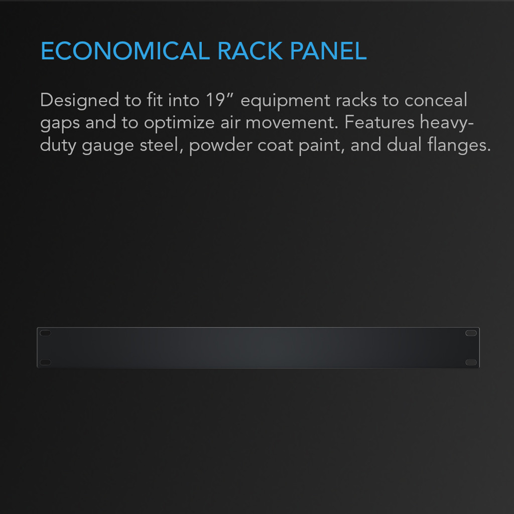 Rack Panel 1U Blank