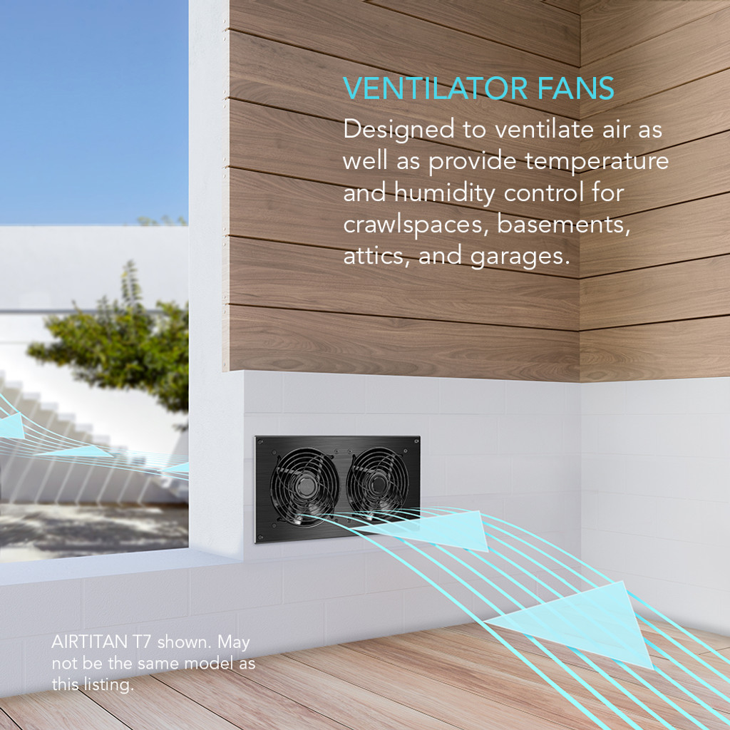 Crawlspace and Basement Ventilation Fan
