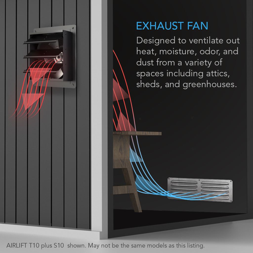 Shutter Exhaust Fan with Temperature Humidity Controller
