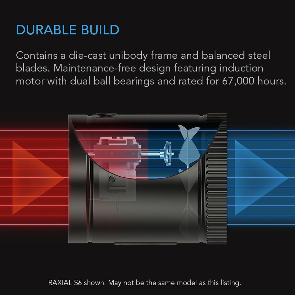Quiet Duct Booster Fan for Attics, Workshops, Basements, Basements and Grow Tents