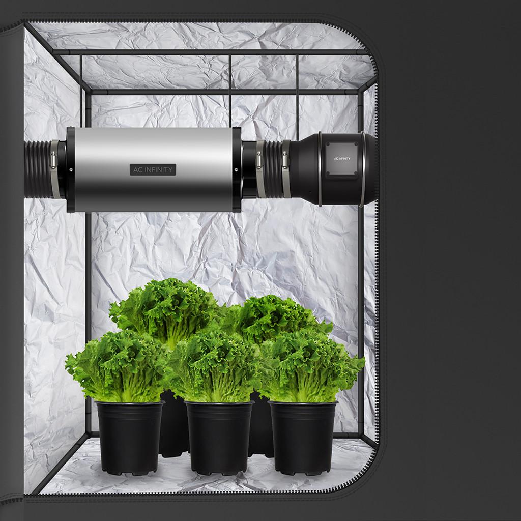 Inline Duct Fan Silencer Noise Reduction Muffler, Indoor Hydroponics Grow Tent Ventilation