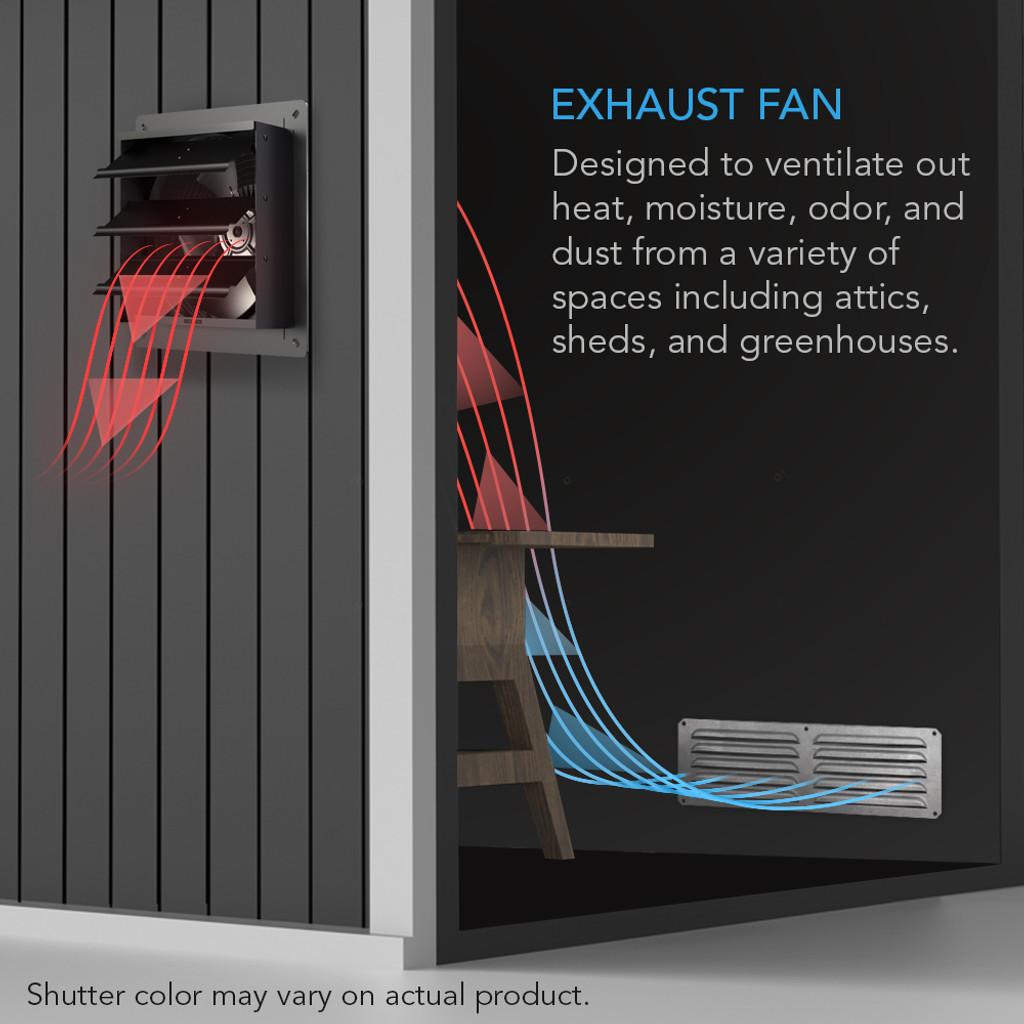 Shutter Exhaust Fan with Fan Speed Controller