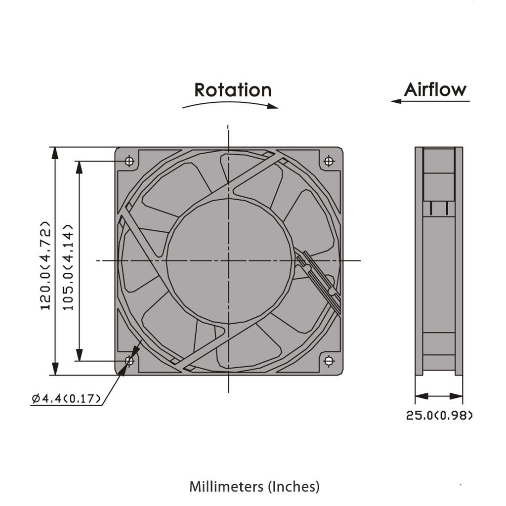 120mm AC Axial Fan