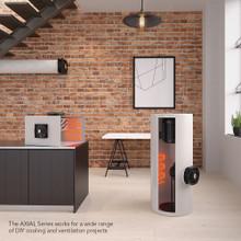 Doorway fan, room-to-room fan, fireplace fan, pellet wood stove fan, ventilation circulation fan