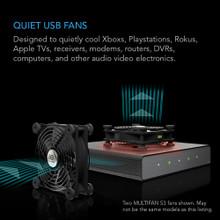 Dual 120mm Quiet USB Fan