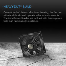 92mm 120v ac axial muffin cooling fan
