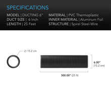 """Duct Tube, Ducting 6"""""""
