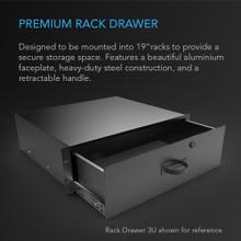 Heavy-Duty Aluminium Rack Drawer 3U