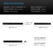 Heavy-Duty Aluminium Rack Drawer 1U