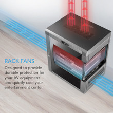 AV Receiver Equipment Rack Fan Cabinet System