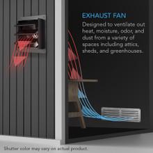 Shutter Exhaust Fan with Speed Controller