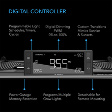 Full Spectrum LED Grow Light, Halo Coverage Powered by Samsung Diodes, Digital Dimming Timer and Controller, for Veg Bloom Indoor Plants in Grow Tents Greenhouses Hydroponics