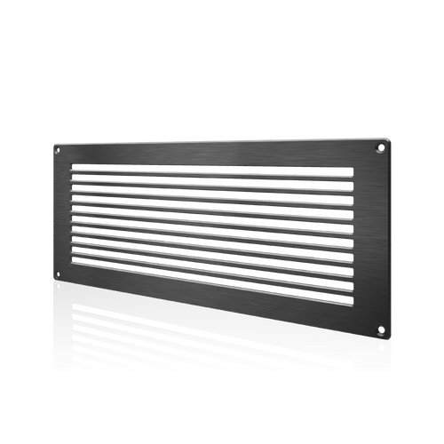 Room Closet Door Ventilation Grille Black