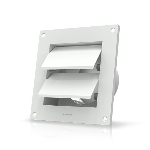 Outdoor Louver Gable Vent Hood Wall Mount Duct Shutter