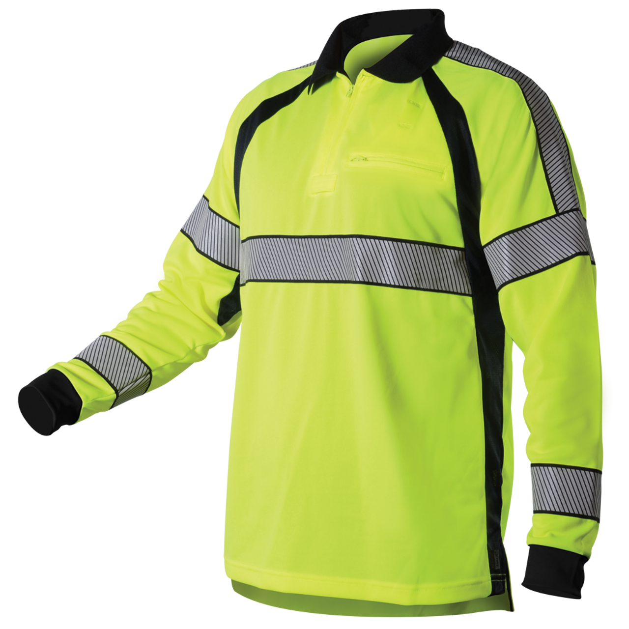 Blauer Ansi Certified Ls Hi Vis Polo Shirt Police And Duty Safety