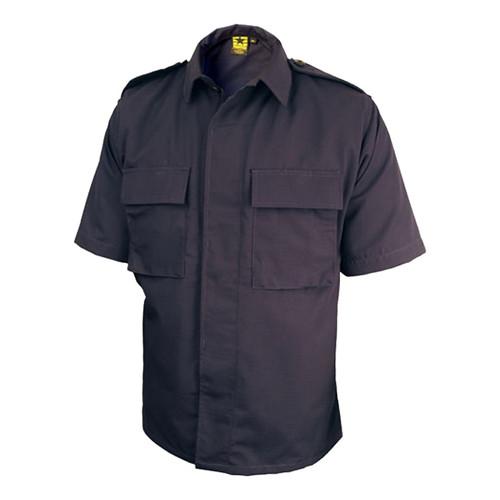 Black Tru-Spec 1332 Mens BDU Coat Tactical Combat Uniform Shirt