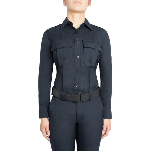 Blauer Long Sleeve Worsted Wool Blend SuperShirt | Women's 8436W