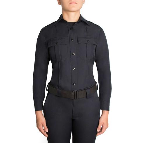 Blauer Long Sleeve Zippered Polyester Shirt | Women's 8600W-Z