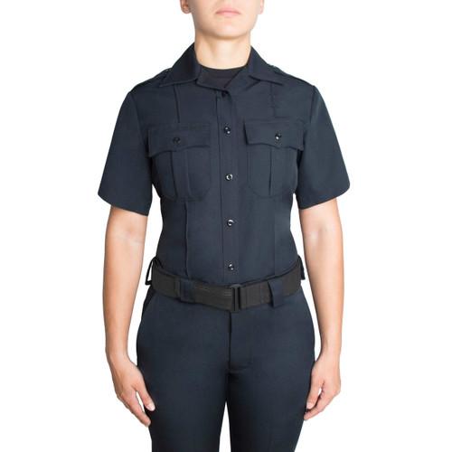 Blauer Short Sleeve Zippered Polyester Shirt   Women's 8610WZ