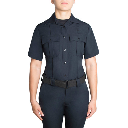 Blauer Short Sleeve Zippered Polyester Shirt | Women's 8610WZ