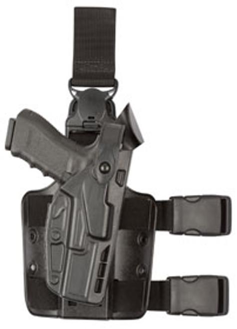 Safariland Model 7005 7TS SLS Tactical Holster w/ Light w/ Quick Release Leg Strap