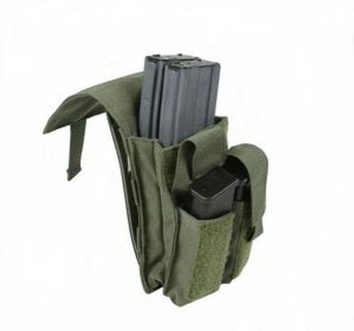 Protech Double Staggered M4 Magazine Pouch w/ Molle Attachment