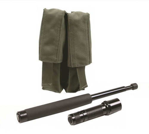 Protech Combo Expandable Baton/Flashlight Pouch w/ Molle Attachment