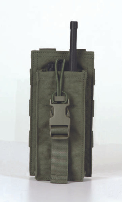 Protech Universal Radio Pouch w/ Bungee Closure w/ Molle Attachment