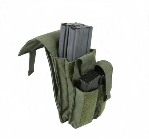 Protech Dual M4/Side Arm Magazine Pouch w/ Molle Attachment